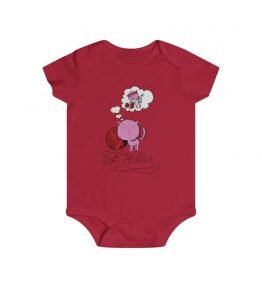 Pink Cat Infant Rip Snap Tee