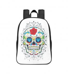 Rose Skull Canvas Backpack