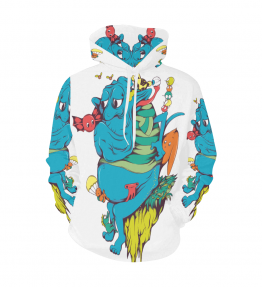 Blue Thing Men's All Over Print Hoodie