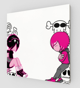 Pink Girl And Boy Canvas (Limited Edition)