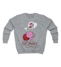 Pink Cat Kids Sweatshirt