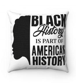 Black History Spun Polyester Square Pillow