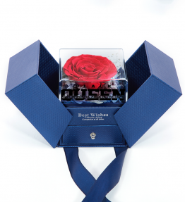 Black Queen Most Powerful Piece In The Game Preserved Fresh Roses Jewelry Box
