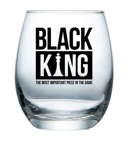 Black King Wine Glass Cup