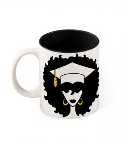 Grad Black Woman Coffee Mug
